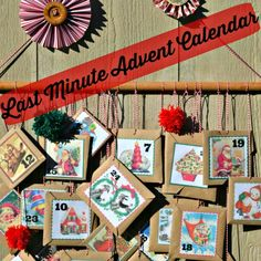 She used several Vintage Christmas images to put together this super cute DIY Advent Calendar.