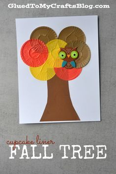 Cupcake Liner Fall Tree - Kid Craft