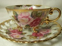 Shafford Japan Three Legged Tea Cup & Saucer Set