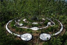 Garden of Cosmic Speculation - Landforming projects - The artist - Marks on the Landscape Famous Architecture, Chinese Architecture, Architecture Drawings, Architecture Details, Landscape Art, Landscape Design, Garden Of Cosmic Speculation, Garden Art, Garden Design