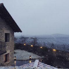 El mejor regalo del día de #reyesmagos en Agroturismo #Arkaia ... la primera #nevada del año #turismorural en #vitoriagasteiz