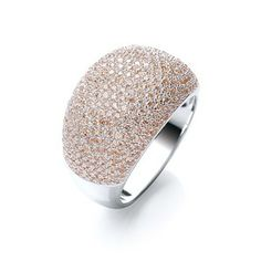 Sterling Silver & Champagne Jewelled Cocktail Ring. Lifts any outfit. www.j-jaz.com