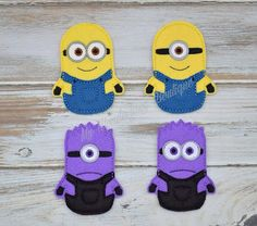 Minions inspired finger puppets by MyWonderlandBoutique on Etsy