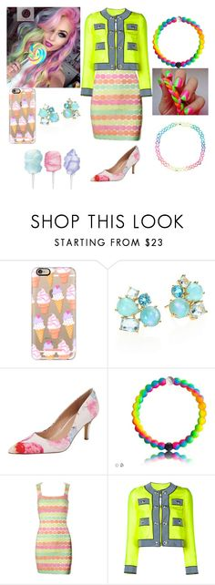 """""""Kaylee Candy daughter of King Candy"""" by damack on Polyvore featuring Casetify, Ippolita, Charles by Charles David, Versace, Moschino, Monsoon and plus size dresses"""