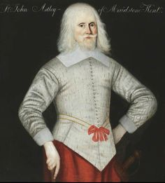 Sir John Astley of Maidstone, Kent. Painted by an unknown artist in the 1630s, Sir John had been Master of the Revels to both King Charles I and his father James.  The picture is under the care of the National Trust at Seaton Delaval Hall, Northumberland.
