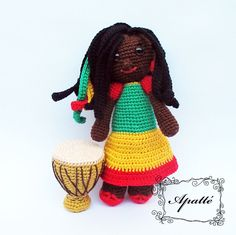 Háčkovaná Panenka Jamajčanka - návod k zakoupení. My Crocheting