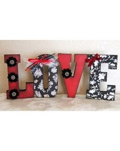 Wooden letters for Valentines