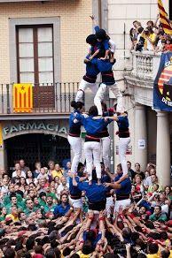 Castellers de Berga - 4d6- Berga 07/07/2012 Presentació dels Castellers de Berga