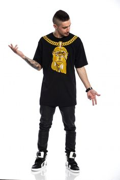 Crooks And Castles Stained Jesus Black
