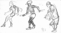 """http://evpo.st/1kszmO1 """"Sketch - people passing by"""" Pencil on paper #sketch (C) Fabrizio Lorito 2014"""
