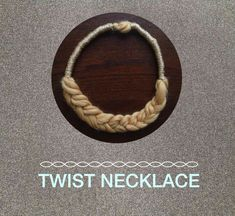 Twist Necklace | DIY Project with Wool Yarn from We Are Knitters Blog