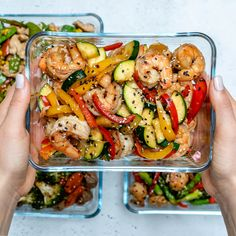 Super-Easy Shrimp Stir-Fry for Clean Eating Meal Prep! - Clean Food Crush Super-Easy Shrimp Stir-Fry for Clean Eating Meal Prep! Stir Fry Meal Prep, Lunch Meal Prep, Healthy Meal Prep, Simple Meal Prep, Meal Prep Dinner Ideas, Fitness Meal Prep, Simple Healthy Lunch, Healthy Lunch Meals, Meal Prep For The Week Low Carb
