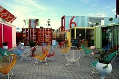 Shipping Container City Near Mexico City