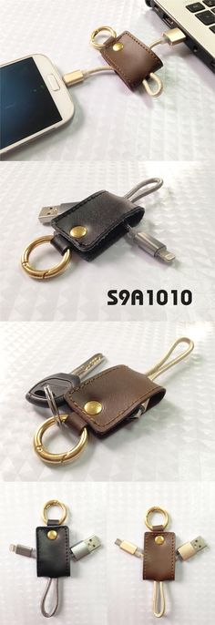 Leather buckle data and charging line  *Material Leather + Aluminum + Nylon *Lenght:18cm  www.ideagroupigm.com