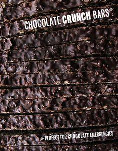 Chocolate Crunch Bars - Take a Megabite