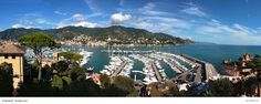 Port of Rapallo, Italy - Rapallo is a small town in the Liguria region of northern Italy. It offers charming Castello sul Mare (or castle in the sea) guarding the port, interesting historic center and the funicular ride up to Montallegro.