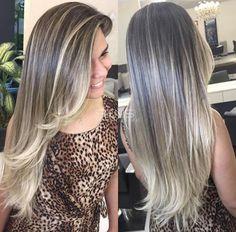 Reverse Ombre Hair, Ombre Hair Color, New Hair Look, Blonde Hair Shades, Goddess Hairstyles, Hair Dos, Gorgeous Hair, Balayage Hair, Pretty Hairstyles