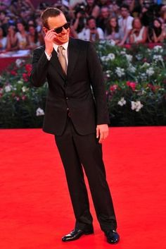: Michael Fassbender rocked shades to a September 2011 Venice premiere of A Dangerous Method.