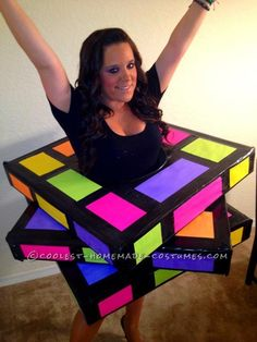 Coolest Rubiks Cube Homemade Halloween Costume...