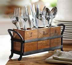 Vintage Blacksmith Flatware Caddy At Pottery Barn - Tabletop - Kitchen Accessori. - Vintage Blacksmith Flatware Caddy At Pottery Barn – Tabletop – Kitchen Accessories – - Cutlery Caddy, Cutlery Holder, Flatware Storage, Utensil Organizer, Kitchen Organization, Kitchen Storage, Kitchen Decor, Pottery Barn Kitchen, Storage Organization
