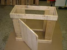 Complete Parts List and Instructions For a DIY Aquarium Cabinet constructed from a basic skip/pallet. You can make an aquarium cabinet from just about anything. All it takes is a bit of imagination and determination.: Assembling the Pallet Aquarium Cabinet