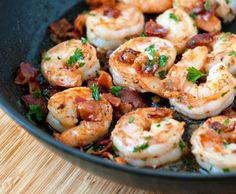 You really can't go wrong with butter and bacon, but when you throw some tender shrimp, garlic and lemon juice into the mix, you've got a small bite with big taste!  more