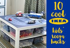 Get creative and save a packet with these ten clever Ikea hacks to help organise your little one's bedroom. Perfect for Lego, books, clothes and more!