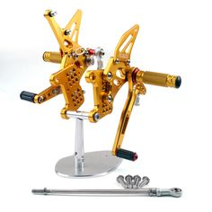 Rearset Rear set For Triumph Speed Triple 1050 Gold Triumph Motorcycle Parts, Triumph Motorcycles, Tiger 1050, Triumph Speed Triple 1050, Triumph Daytona 675, Kawasaki Zx10r, Triumph Tiger, Yamaha Yzf, Motorcycle Parts And Accessories