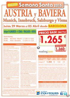 Austria y Baviera -Semana Santa   salida 29/03 desde Barcelona ( 8d/7n) precio final 1.360€ ultimo minuto - http://zocotours.com/austria-y-baviera-semana-santa-salida-2903-desde-barcelona-8d7n-precio-final-1-360e-ultimo-minuto-5/