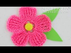 DIY Learn How to Crochet a Flower for a Hat Purse or Shawl Tutorial Flowers - YouTube