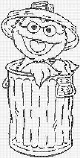 Luvs 2 Knit: Sesame Street Oscar The Grouch gráficos :) Natal também!