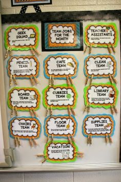 Classroom Jobs 10 Best Organizing Tips for the Classroom- Student and group jobs! Be a team! 5th Grade Classroom, Classroom Community, Classroom Setup, School Classroom, Future Classroom, Classroom Job Chart, Classroom Environment, Classroom Design, Classroom Activities