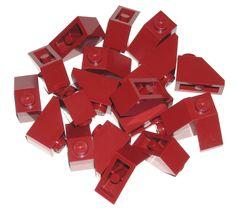 LEGO 20 Dark Red Slopes 45 Degree 2 x 1 75052 #LEGO