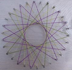 Step-by-step instructions for making this string art pattern -- fun for kids  :-)  #DIY