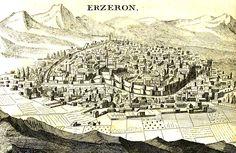 Erzurum from Joseph Pitton de Tournefort's 1717 Book Relation d'un Voyage du Levant (Erzurum, 1717)