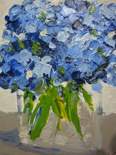 Fresh Hydrangeas come alive in Mary Miller Veazie's Study in Oil!