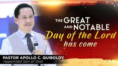 'The Great and Notable Day of the Lord has come' by Pastor Apollo C. Spiritual Enlightenment, Spirituality, The Great, New Jerusalem, Son Of God, Praise And Worship, Apollo, Gods Love, Lord