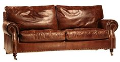 Buy a Custom English Arm Leather Sofa, made to order from Mortise & Tenon Custom Furniture | CustomMade.com