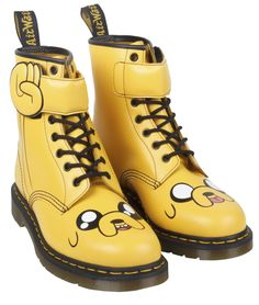 Dr. Martens X Adventure Time - Jake the Dog Boots. Available in adult and kids sizes from Monday 2nd March.