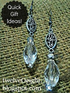 Get a jump start on gift making this year!  #jewelry #christmas gift #craft #earring #diy #how to make jewelry @  http://twelveoeight.blogspot.com/2012/10/make-your-own-jewelry-gifts.html