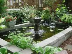 Above ground patio pond