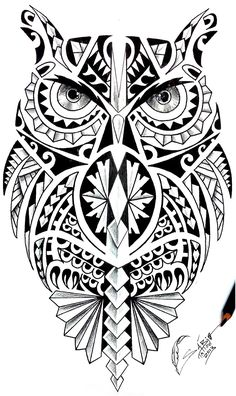36 best Maori Owl Tattoo Designs Shoulder images on . Maori Tattoos, Kunst Tattoos, Samoan Tattoo, Leg Tattoos, Tattoo Drawings, Body Art Tattoos, Tribal Tattoos, Polynesian Tattoos, Tatoos