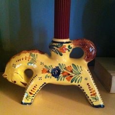 Unusual Quimper candle holder from my collection