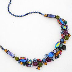 !!!!!!!!!!!!!!!!!!!Sorrelli Wild Meadow Collection. Crystal chunky necklace in a vivid array of gorgeous jewelry tone crystals. A necklace to add sparkle & brighten your day.