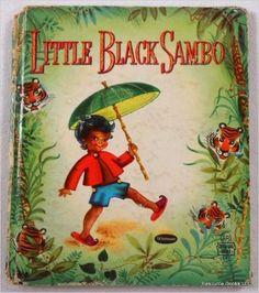 1950 Whitman Little Black Sambo Children's Book Tell-a-Tale Vintage Children's Books, Old Books, Antique Books, Vintage Ads, Vintage Shoes, Vintage Black, Minstrel Show, Children's Picture Books, Little Golden Books