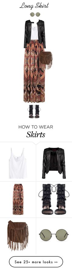 """#52 Long Skirt"" by konstantina00085 on Polyvore featuring H&M, Torn by Ronny Kobo, Boohoo, Zimmermann, Forever 21 and Glamorous"