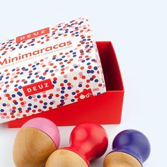 Minimaracas - Berries. Made by two French sisters.  #play #toys #playtime #maammo #toystore #designstore #design #kidstoys