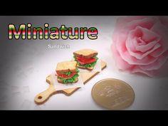햄버거 같아 보이는 미니어쳐 샌드위치 만들기 Miniature * Sandwich - YouTube