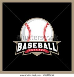 Modern professional logo for a baseball league. Sport style logo. T-shirt emblem - stock vector