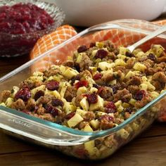 Paleo Sausage, Apple & Cranberry Stuffing Recipe